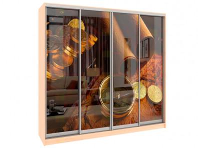 Шкаф-купе 4-х дверный с фотопечатью Модерн 440